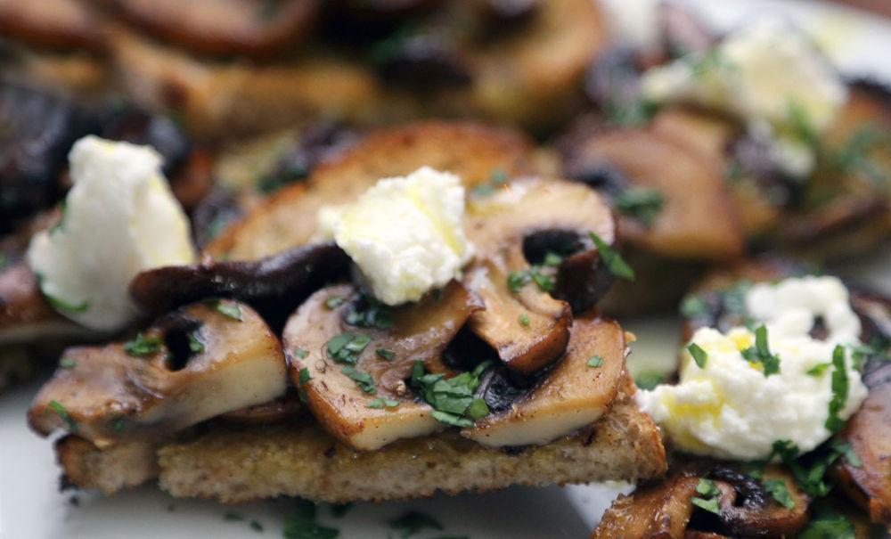 Panfried mushrooms with Maggie Beer's verjuice