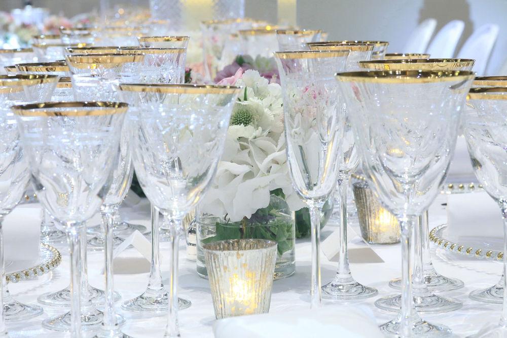 Wedding table display at the V&A