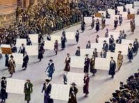 Suffragettes march