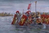 Legio II Augusta cross the Medway, Britannia AD43