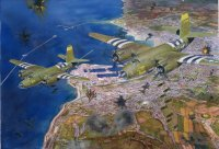 Marauders above Cherbourg, June 22, 1944