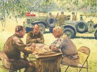 Patton & Bradley. Sicily, July 1943