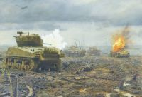 Tank skirmish. 1st Lieutenant Sell, Guebling, November 14, 1944