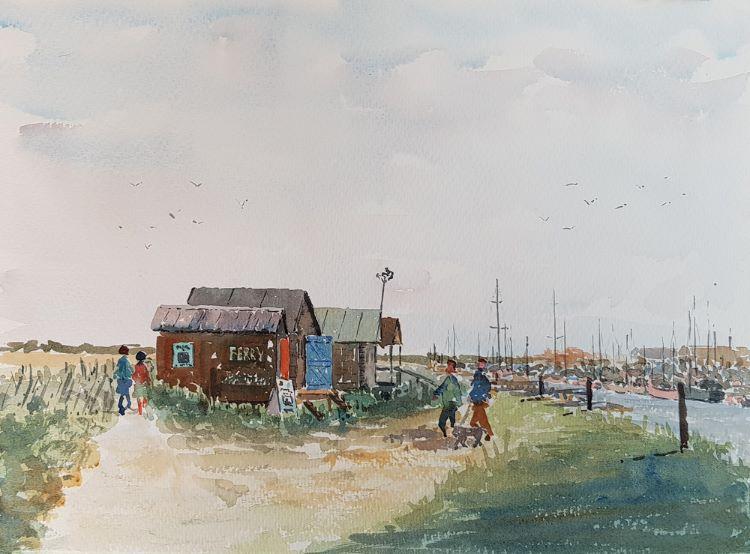 Old Fishing Huts at Walberswick