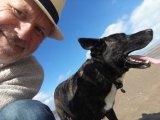 Just me and Joe, the studio dog, enjoying a bit of down time.