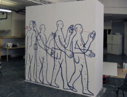 Preparation of monolith DAC artwork for Covent Garden London 2012