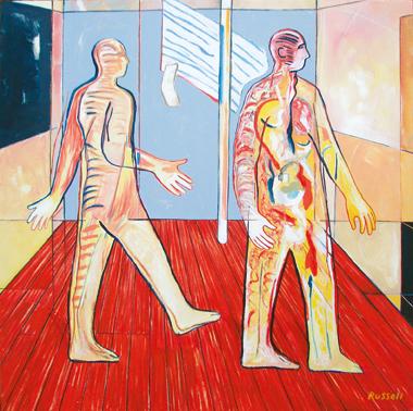 romero (zombie and vampire), oil on canvas, 60cm x 60cm, 2007