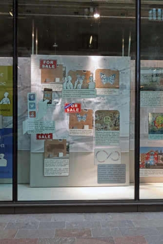 DAC window 'graffiti and street art dilemmas in london'