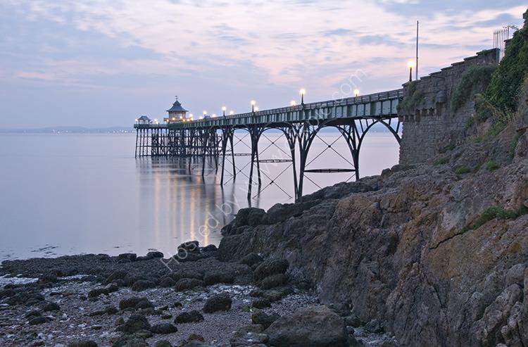 Pier by Lamplight