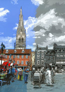 Newark Market Square - Past & Present
