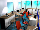 3D view of typical office layout