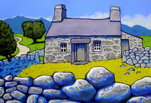 """""""The Cottage"""" - Mixed media"""