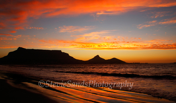 South Africa, Cape Town, Table Mountain, Sunset