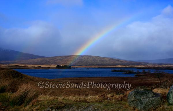 Scotland, Rannoch Moor, Rainbow