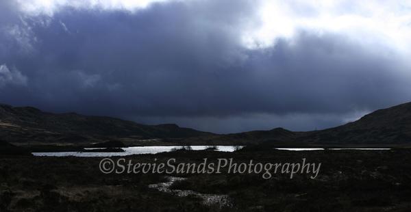 Scotland, Rannoch Moor, Stormy