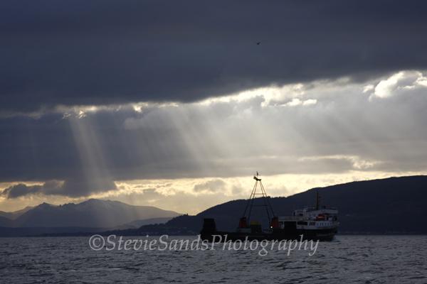 Scotland, Firth of Clyde, Caledonian MacBrayne Ferry