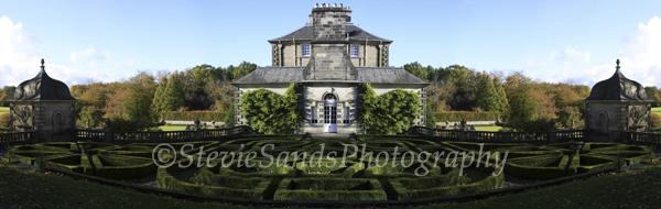 Scotland, Abstract Creation of Pollok House, Pollok Park, Glasgow