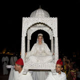 Bride throne Marrakesh wedding
