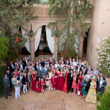Group photo relaxed Marrakech