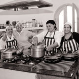 Kitchen Wedding Marrakesh b&w