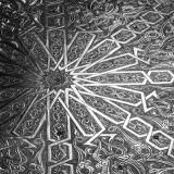 Mamounia engraved metal table detail