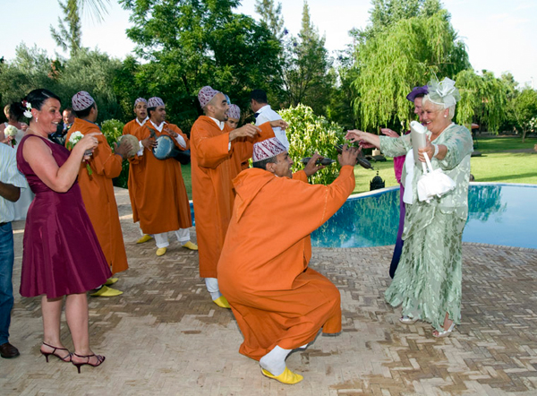 Moroccan wedding dancers