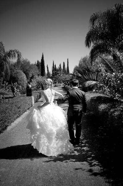 Wedding Couple gardens Marrakech