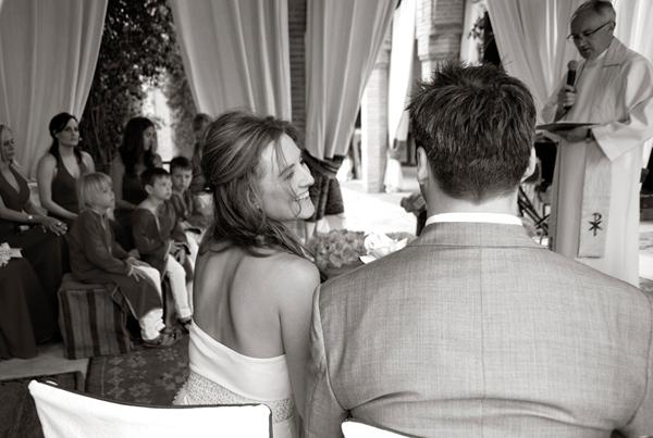 Wedding couple happy Marrakesh