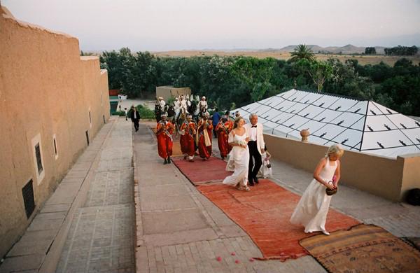 Wedding procession Kasbah Agafay Marrakesh