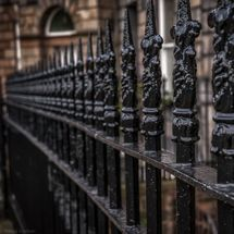 black railings