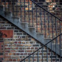 red brick steps