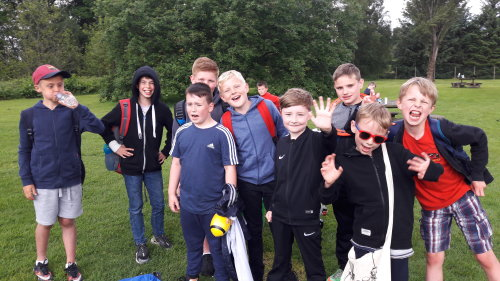 Junior Section enjoying an end of session outing to Blair Drummond Safari Park