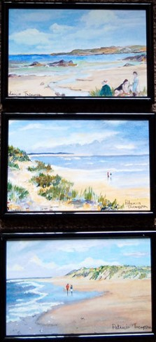Seascape Trio. Acrylic painting by Patricia Thompson