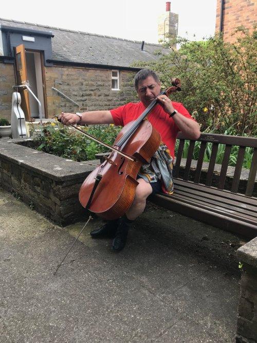 Nicholas at his cello