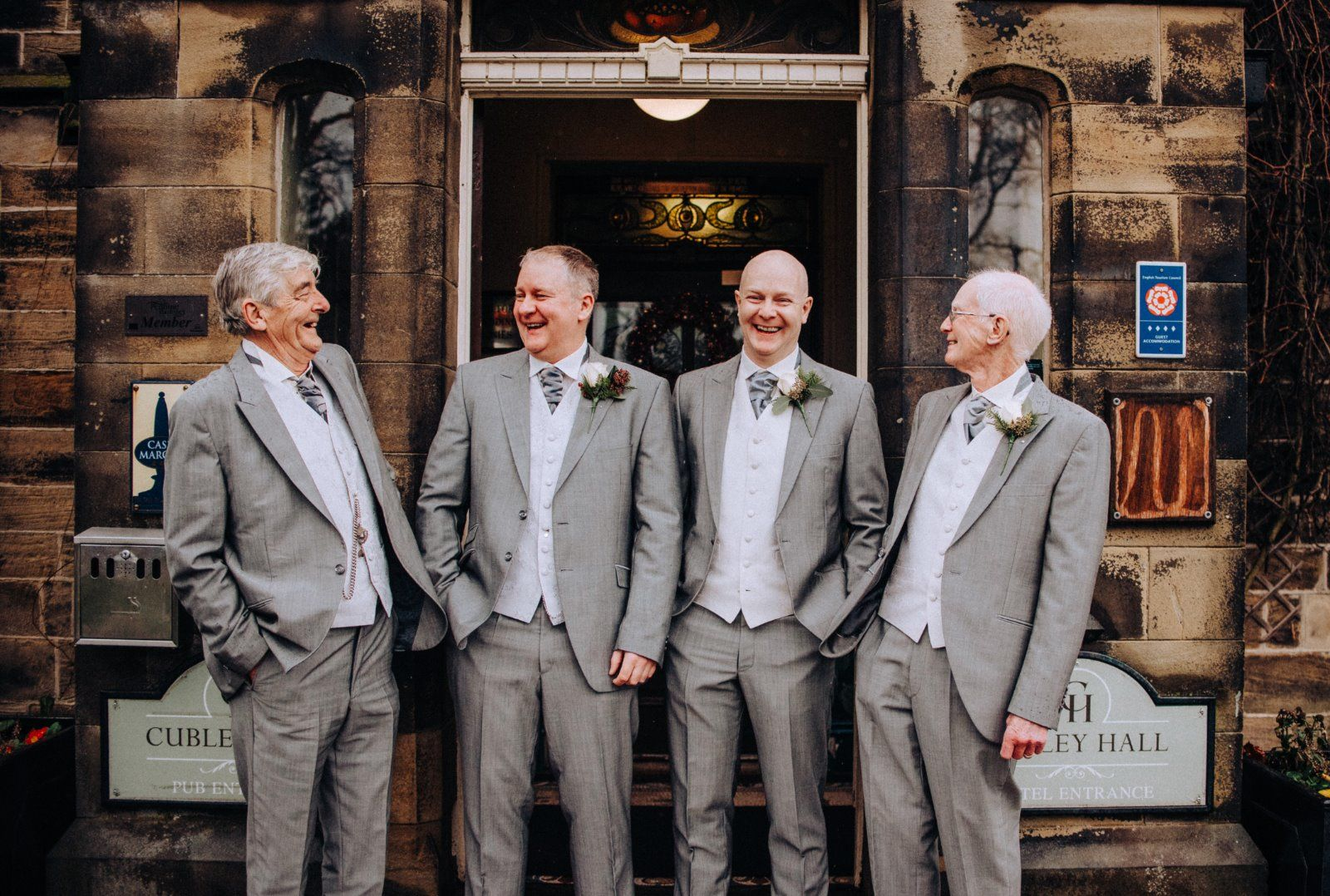 Yorkshire wedding photographer at Cubley Hall