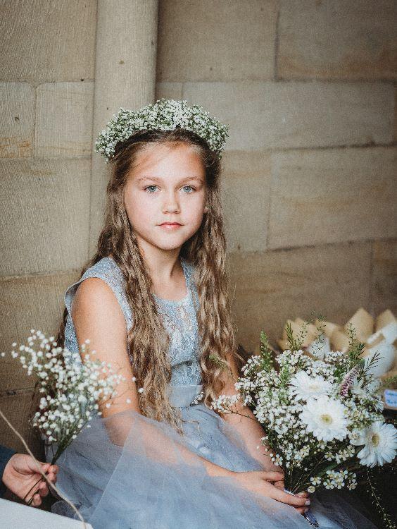 Flower girl at Sheffield wedding