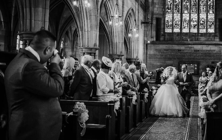 Yorkshire church wedding photography