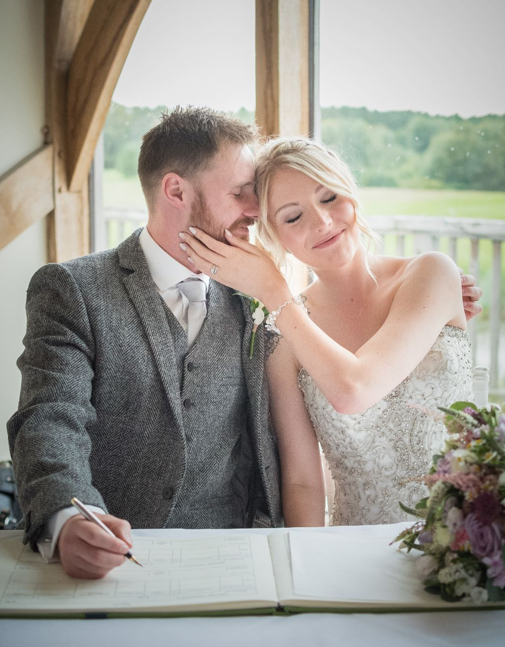 Wedding photography at Sandburn Hall Yorkshire