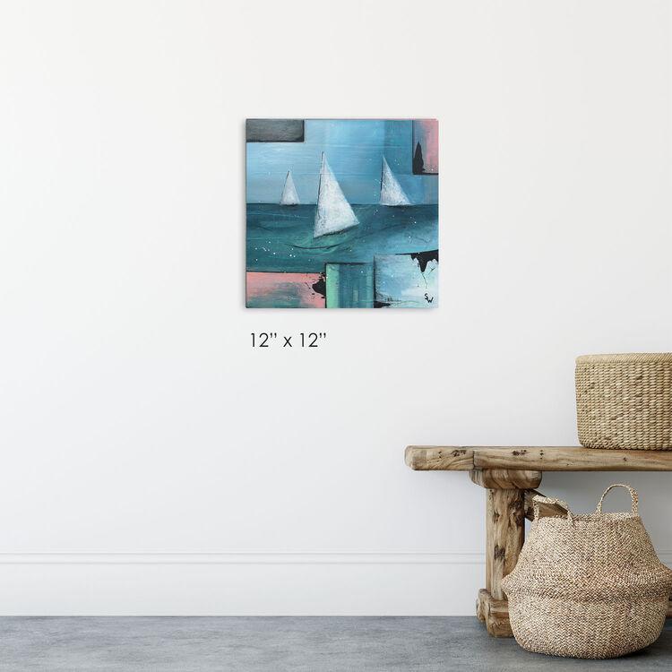 three white boats, £95, aqualibrium gallery