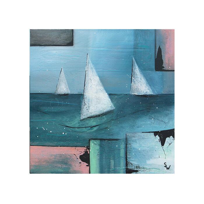 three white boats