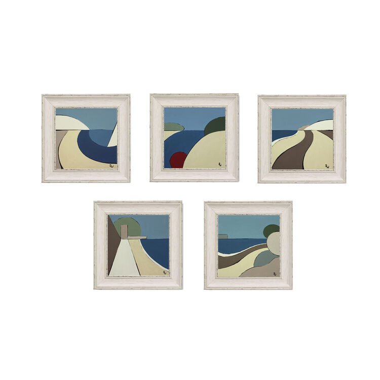 I.O.W FRAMED PAINTINGS (SET) £395