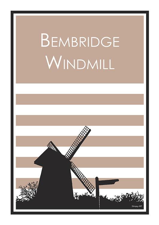 bembridge windmill (pink)