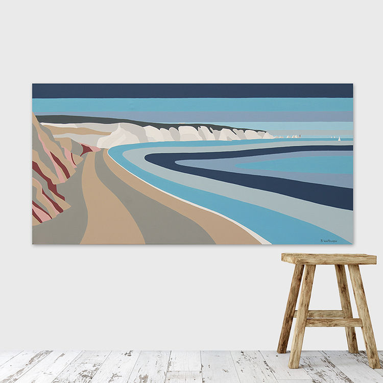 coloured sand at alum bay (sold)
