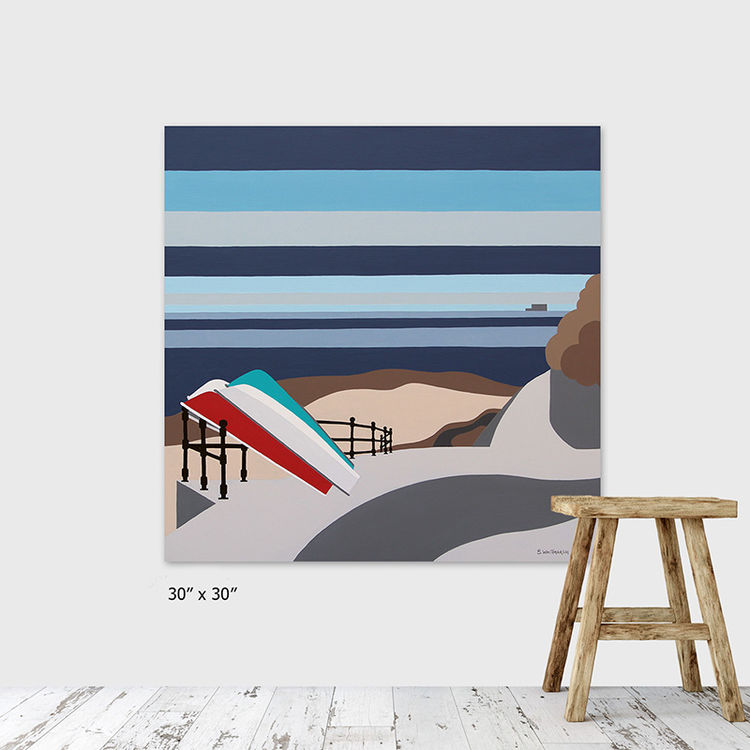 boats at seaview (stripes) artist