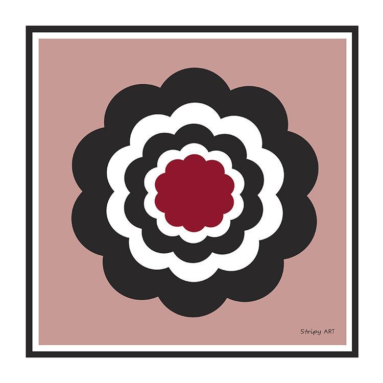 really retro flower (pink)