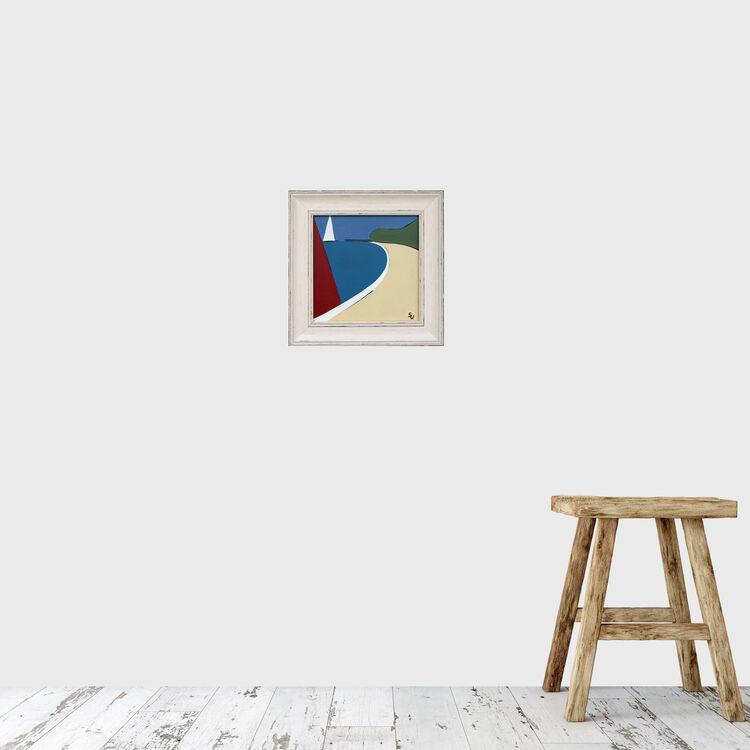 RED SAIL AT PRIORY BAY £95 (ARTIST)