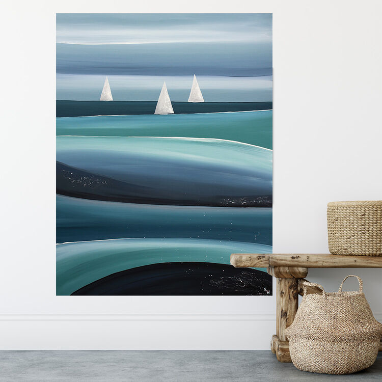 SAILING IN THE DEEP, £695, SEAVIEW ART GALLERY
