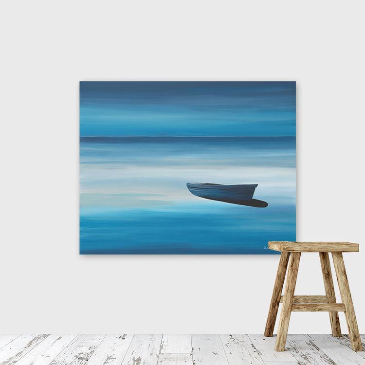 Blue Boat (seaview art gallery)