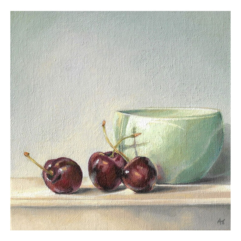 CHERRIES AND DENBY BOWL