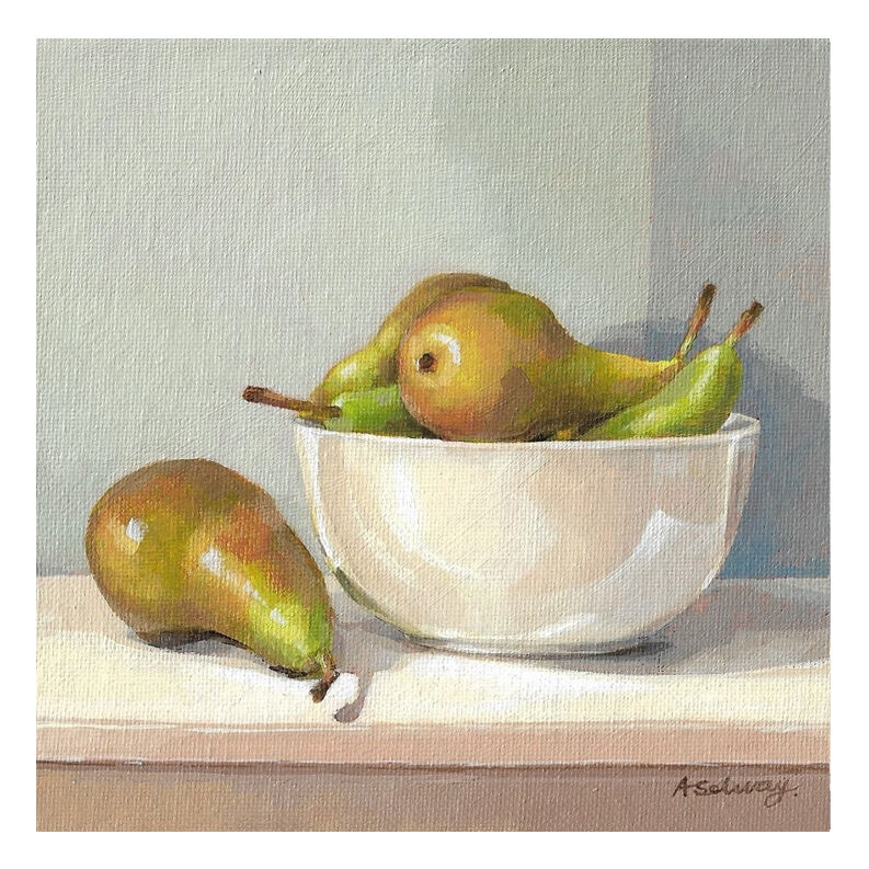 PEARS IN A WHITE BOWL £50